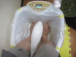 素粒水で足裏デトックスぅぅぅ