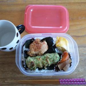 最近の朝昼ご飯 海苔弁の研究( ゚Д゚)ウマー