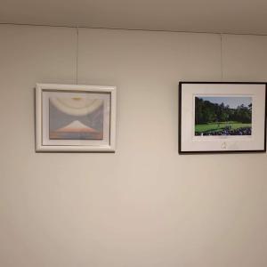 絵画ご購入後 絵を飾ったお部屋の写真