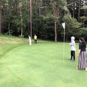 初体験のファミリーゴルフ 草津温泉NAKAZAWAヴィレッジ
