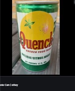 quench ソーダ缶の名前を思い出す