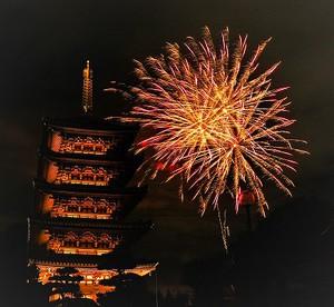 アキ花火! 仏生山のお祭りです