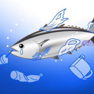 海洋プラスチック問題のイラスト制作
