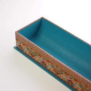 レッスン作品2点~「内底がカーブした筆箱」と「リボントレイ」
