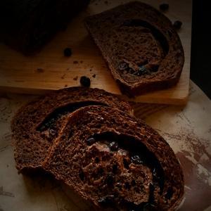 ココナッツオイルdeココアぶどうパン