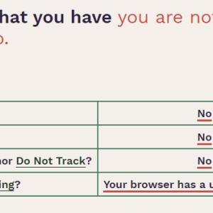 無料でブラウザからどんな情報が収集されているか確認できる「Cover Your Tracks」