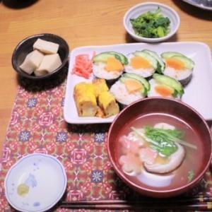 夫婦二人でのひな祭りに作った一口寿司