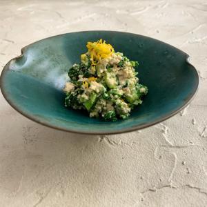 総合グランプリ受賞!菜の花とミツバの白和え