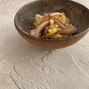 お弁当にも!材料2つ、調味料2つで簡単おいしい!春キャベツとゲソのねぎ塩炒め