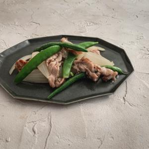 豆と豚の中華風梅炒め