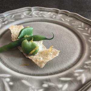 湯葉のタルティーヌ 味噌とレモンの香り