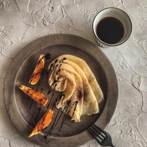 オレンジ風味のティラミスクレープ