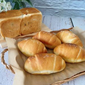 大納言食パンと塩バターフランス