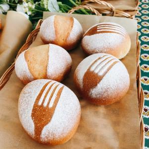 レーズン酵母テーブルパンとフリュイ