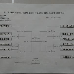 全日本学童予選抽選結果