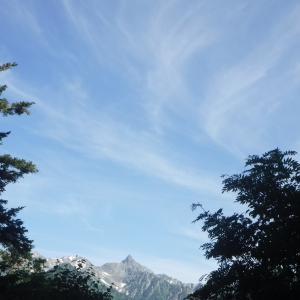 夏山の開始は北アルプスから @蝶ヶ岳
