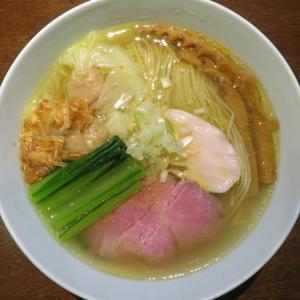 らぁ麺 すぎ本@鷺ノ宮 「塩らぁ麺+ワンタントッピング(2個)、ほか」