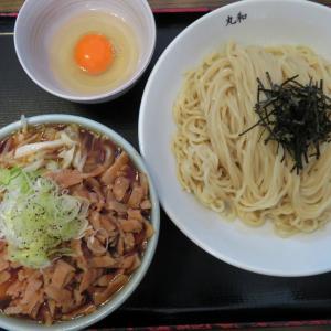 つけ麺 丸和@春田(愛知県) 「肉野菜つけ麺(小鉢)、生玉子、ほか」