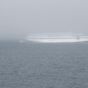 2020年夏。常磐線そしてフェリー⑬ 霧の福島沖クルージング