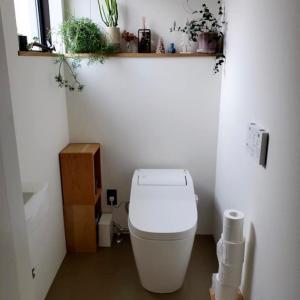 トイレにね。