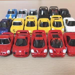 【チョロQ zero】フェラーリ シリーズ 17モデル並べでみた