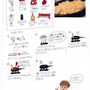 えびとベーコンのトマトパスタ