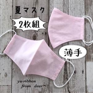 ★薄手 立体 夏マスク★2枚セット~ピンク色~