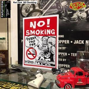 Rat Fink ラットフィンク メッセージ ボード NO Smoking