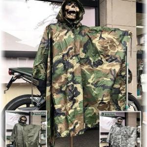 US軍スタイル レインポンチョ リップストップ生地 雨具 レインウェア フリー サイズ