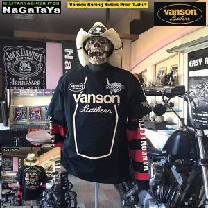 VANSON バンソン NVST-2013 レーシングライダース Tシャツ。