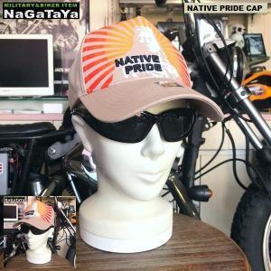 ウエスタン&ネイティブ NATIVE PRIDE ソリッドキャップ カーキ