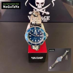 VOLTAGE ボルテージ バイカージュエリーウォッチ スカルチェーンスタイル 腕時計