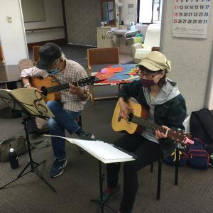 みよし市地域活動支援センターでギターデュオ2020年10月20日ありがとうございました