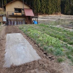ガッテン農法で、イチゴ畝づくり