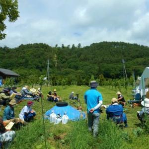 自然菜園スクール『自然菜園ベーシックコース』最高の定植日和~ テーマ:夏野菜の支柱&定植、サツマイモの植え付け