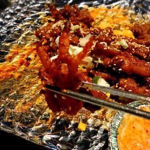 カロスキル 韓国人に大人気の鶏炭火焼き オンダルチッ