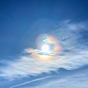 彩雲!空がとっても綺麗だった