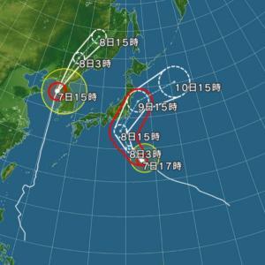 えらい風が吹いてるわ!台風が近いからかな!?