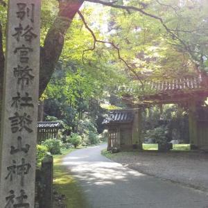 まだまだもみじが青い淡山神社