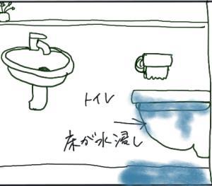 衝撃!トイレの水逆流!!(悲鳴)
