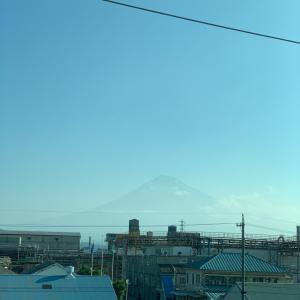 今日は富士山が…6月の東京出張終わりました