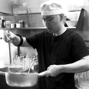 高林「浜田山」で味玉魚豚ラーメン