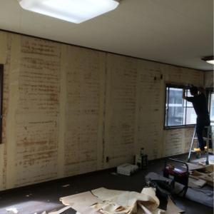 南栄町のクボタハウス棟のリフォーム工事開始しました。