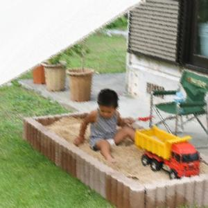 手作り砂場