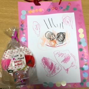 息子(4歳)が保育園で書いてきた絵&プレゼント