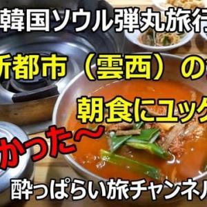 ☆★2019韓国ソウル弾丸旅行その3 空港新都市(雲西)エリアで朝から食堂でユッケジャン・・・YouTubeに動画UPしました