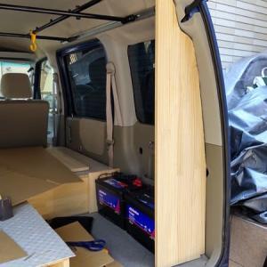 ☆★アトレーワゴン車中泊DIY・・・サイドラック製作の途中経過・・・