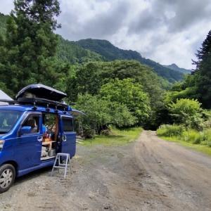 ☆★クロちゃん自由キャンプサイトで初めての車中泊キャンプ