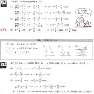 平行線と線分の比 例題