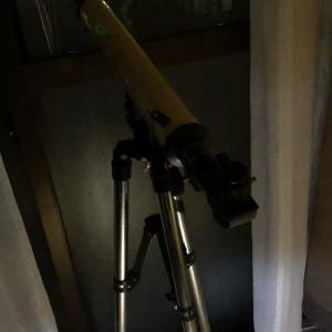 赤い月を望遠鏡で見た